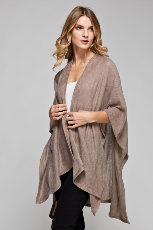 long solid poncho - orangeshine.com