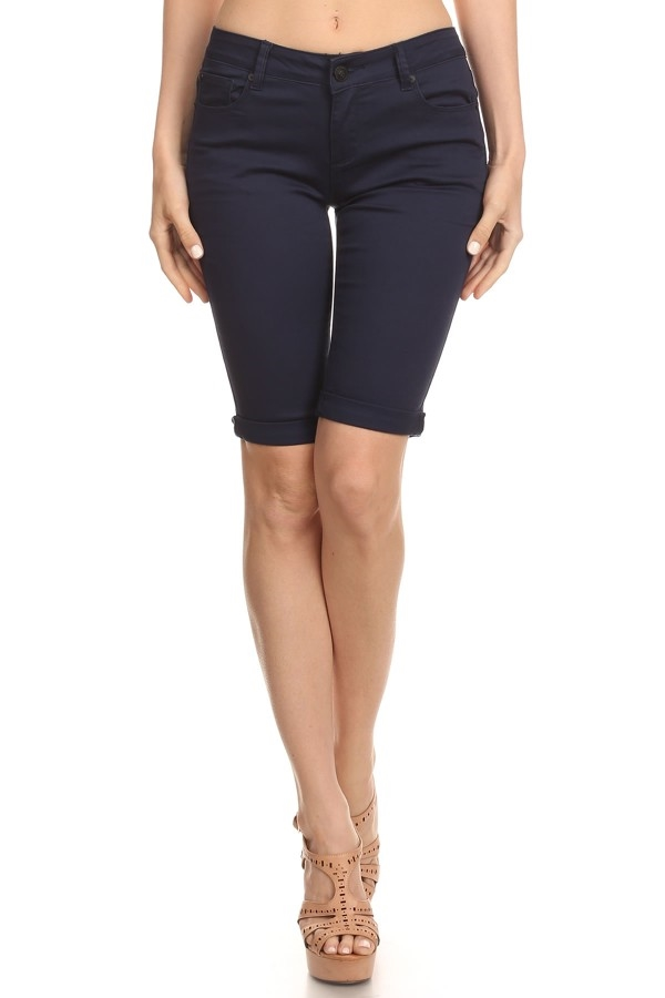 ABOVE THE KNEE SHORTS in NAVY - orangeshine.com