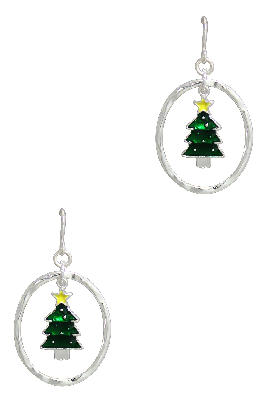 CHRISTMAS TREE DROP EARRING - orangeshine.com