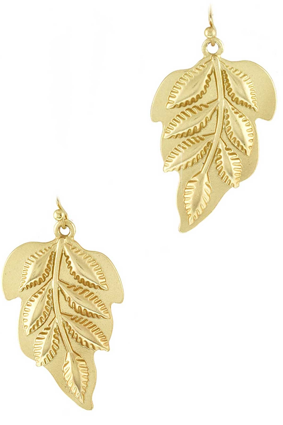 LEAF DANGLE EARRING - orangeshine.com