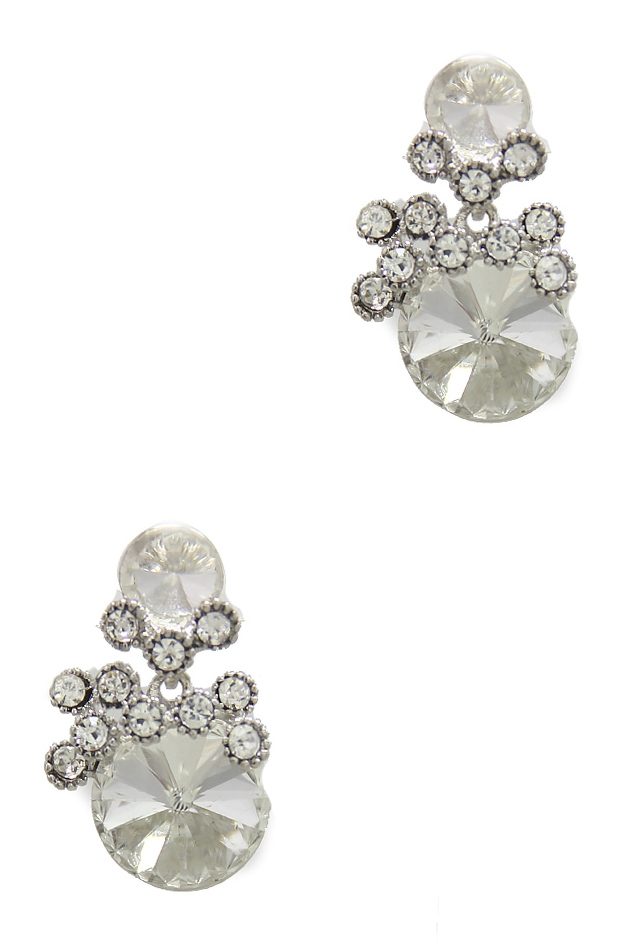 ROUND DIAMOND CLUSTER EARRING - orangeshine.com