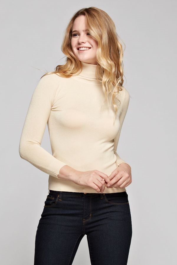 Classic Turtle Neck Top - orangeshine.com