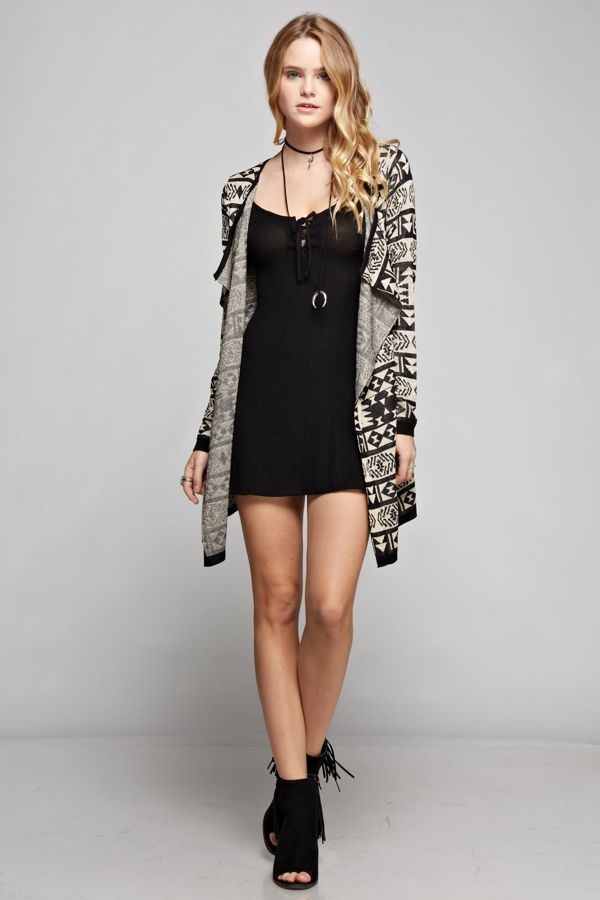 Tribal Print Cardigan - orangeshine.com