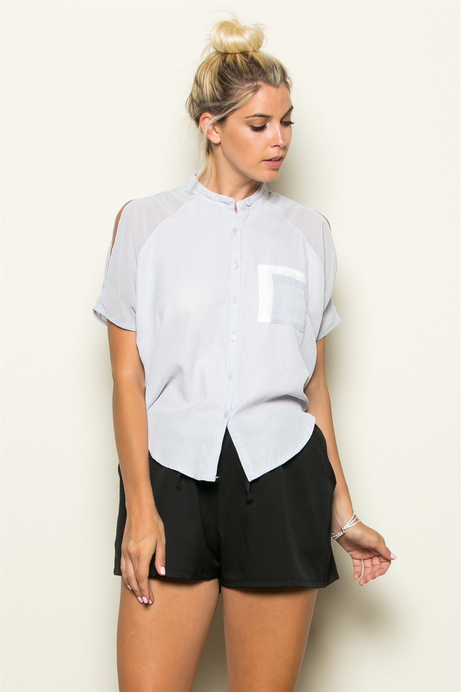 COLORBLOCK POCKET SHIRTS - orangeshine.com