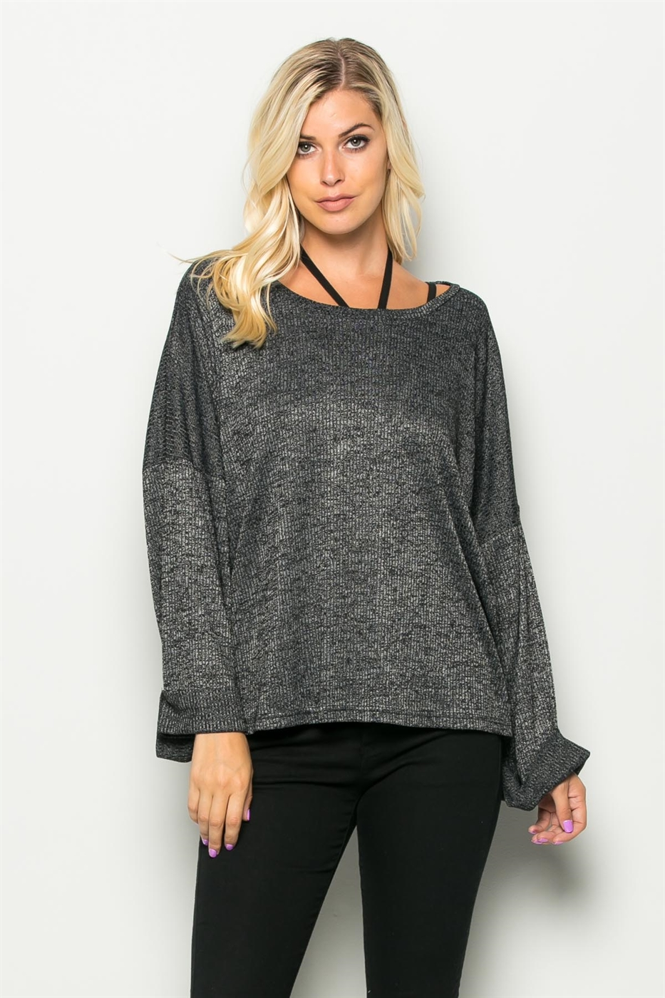RELAXED LONG SLEEVE TOP - orangeshine.com