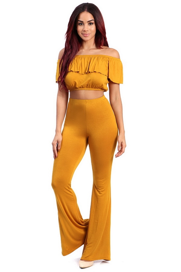 cropped and bell bottom pants  - orangeshine.com