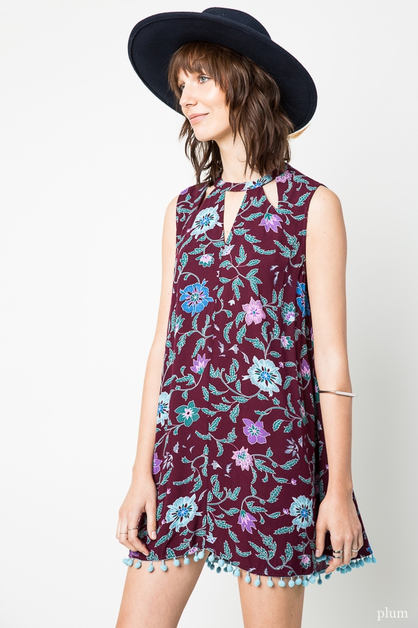 Printed Trapeze Dress - orangeshine.com