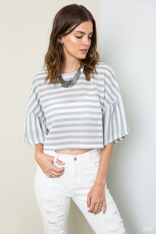 Stripe Crop Top - orangeshine.com