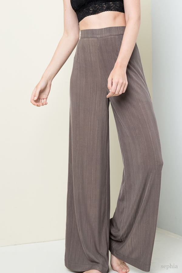Ribbed High Waisted Pant - orangeshine.com