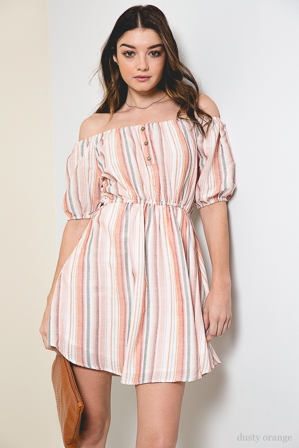 Striped Sun Dress - orangeshine.com