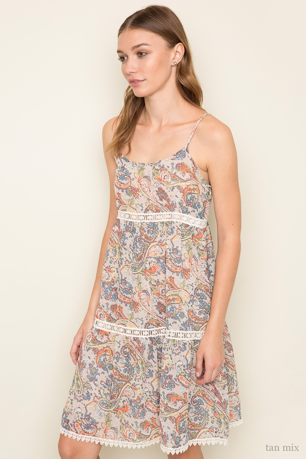 Printed Tank Dress - orangeshine.com