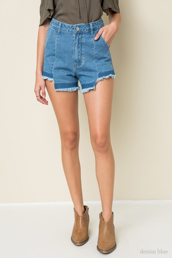 Denim Trouser Shorts - orangeshine.com