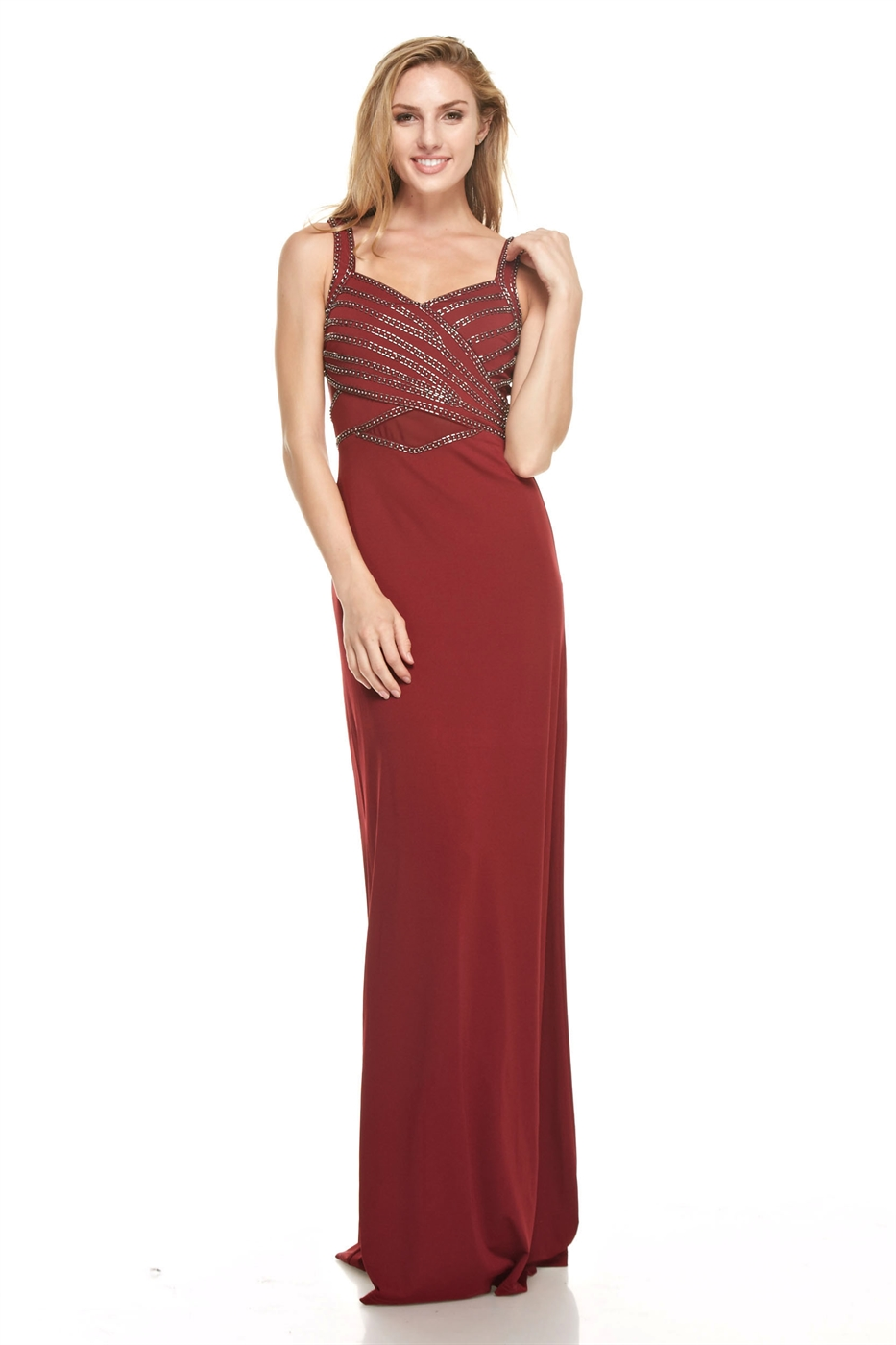Embellished Maxi Dress - orangeshine.com