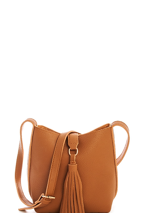 Fashion Tassel Crossbody Bag - orangeshine.com