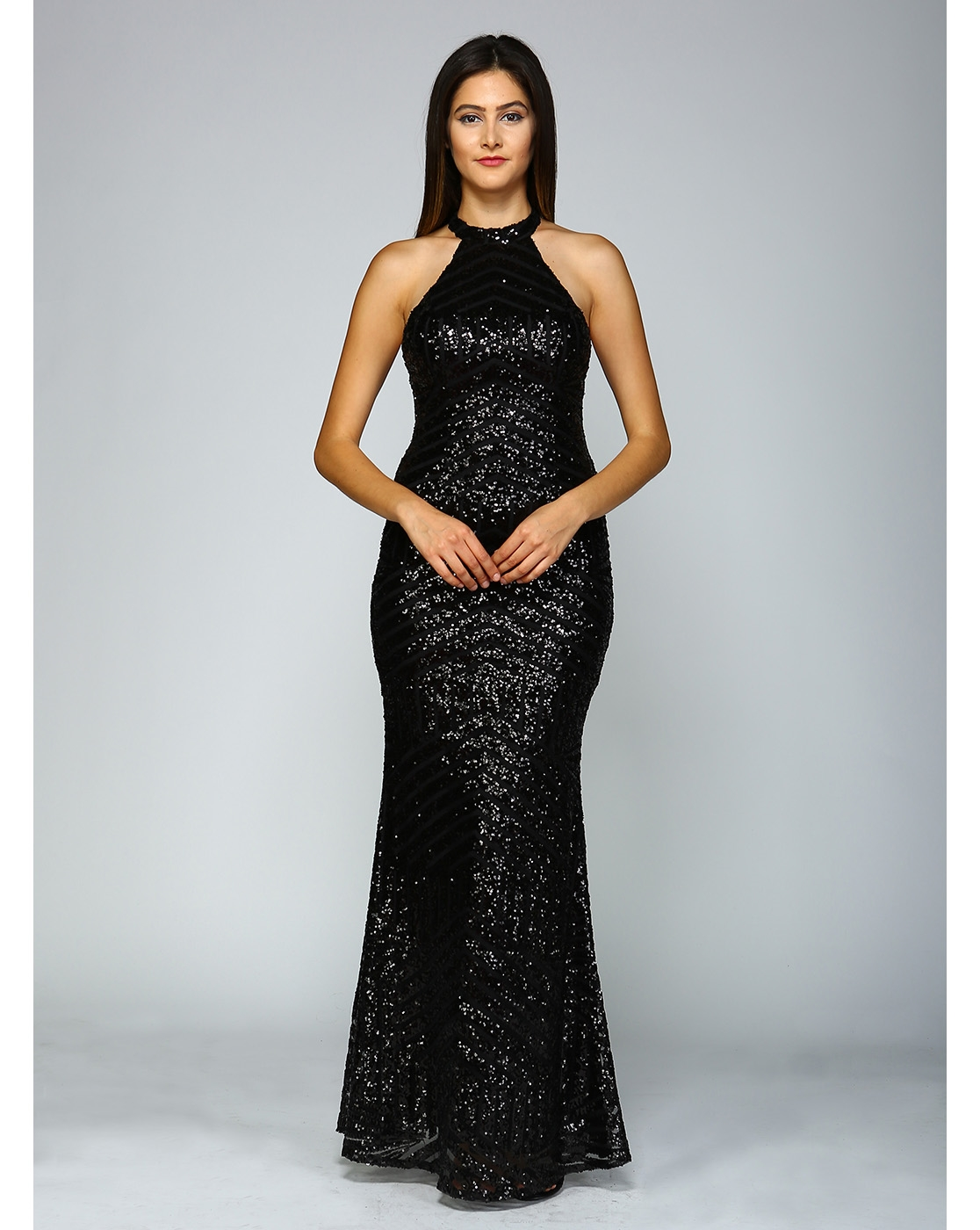 LONG SEQUINED OPEN BACK - orangeshine.com