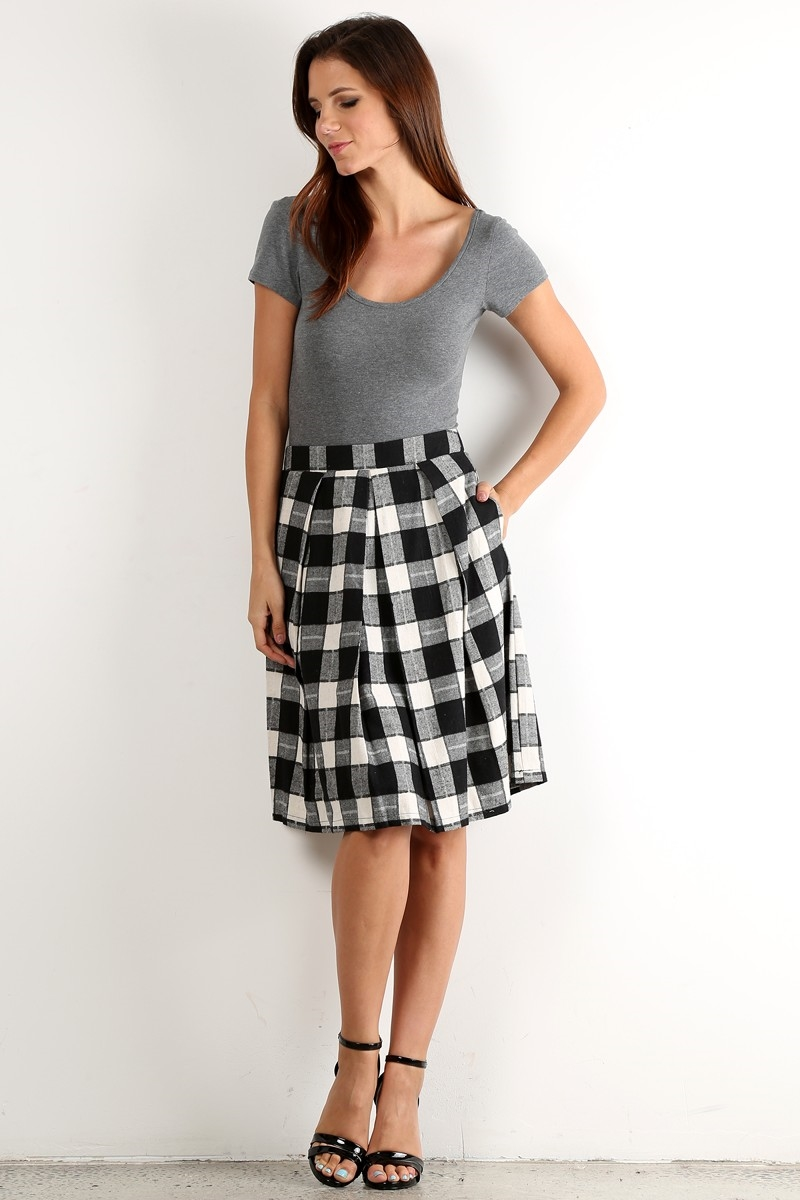 Plaid Skirt - orangeshine.com