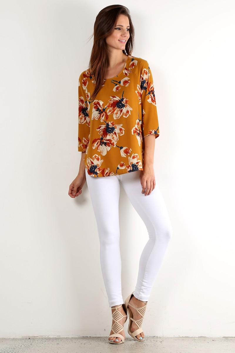 Printed Top - orangeshine.com