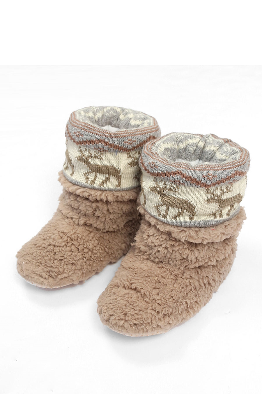 NORDIC PATTERN SLIPPERS - orangeshine.com