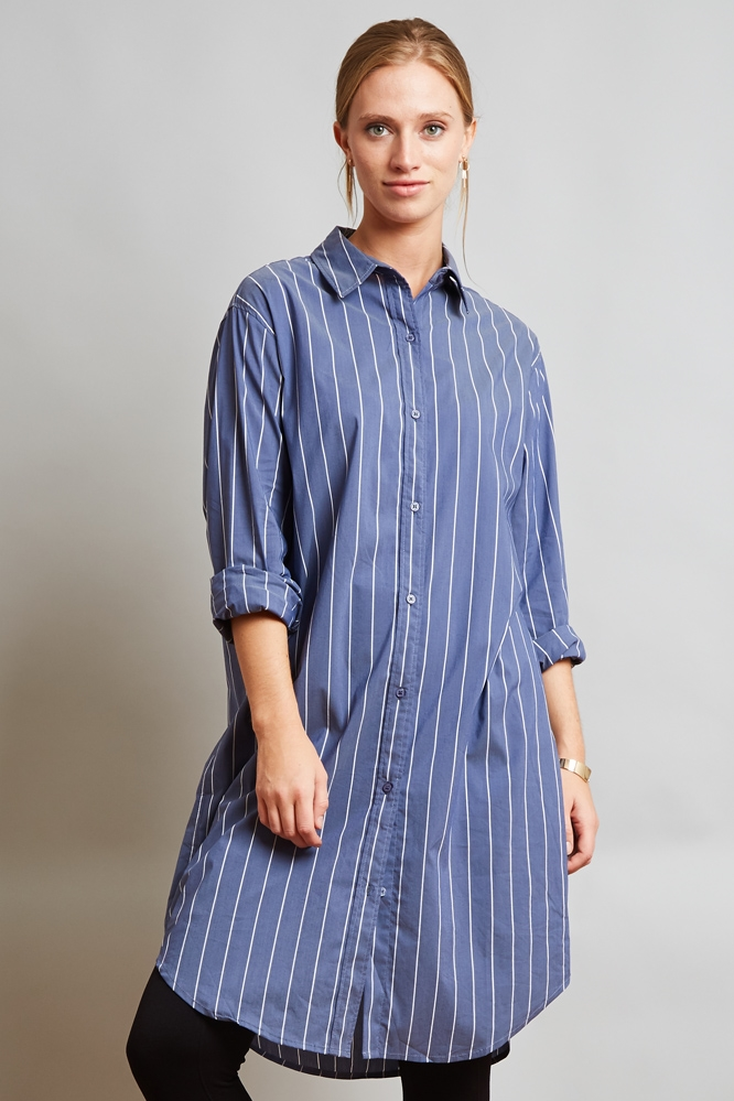 STRIPE LONG SHIRT - orangeshine.com