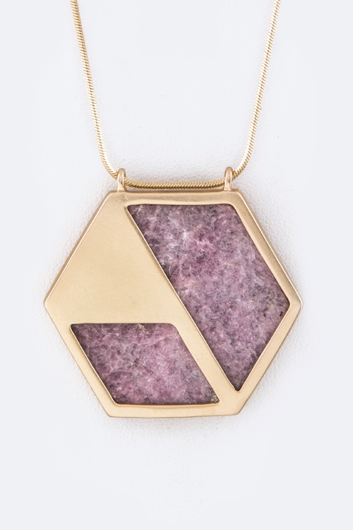 Framed Hex Necklace - orangeshine.com