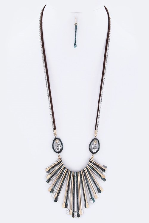 Mix Tone Fringe s Long Necklac - orangeshine.com