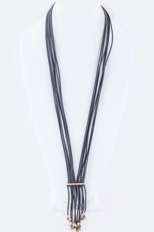Fringe Beads Layer Necklace - orangeshine.com