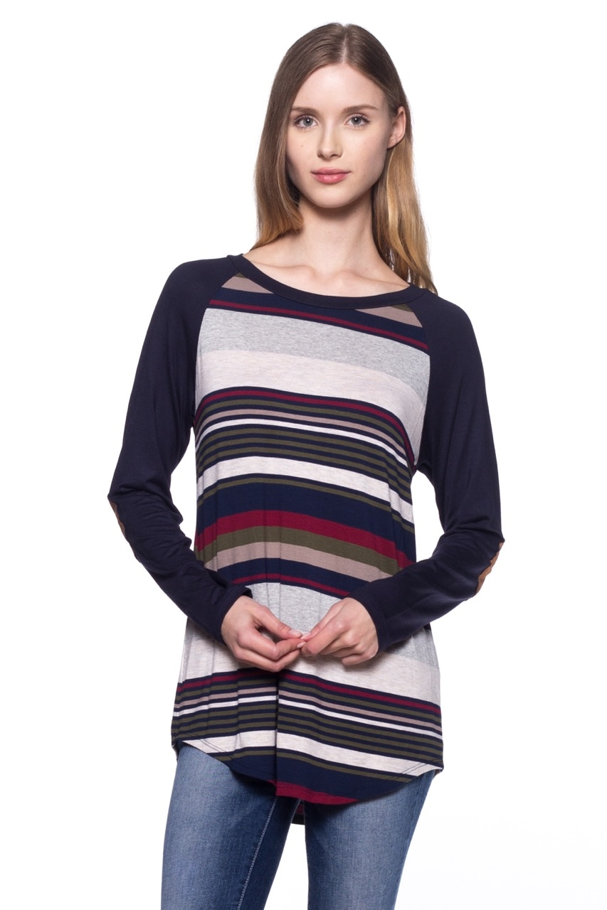 Baseball Tee Stripe Multicolor - orangeshine.com