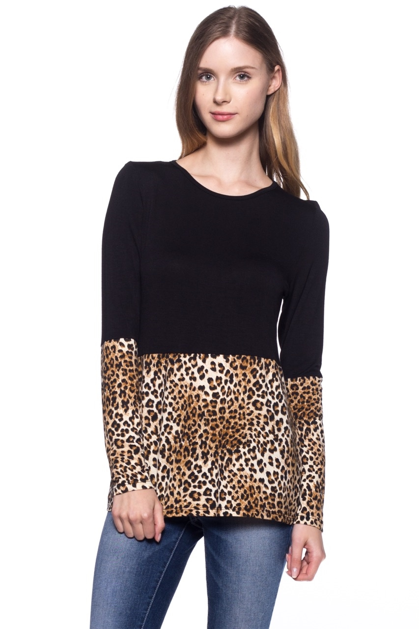 Leopard Tunic Long Sleeve - orangeshine.com