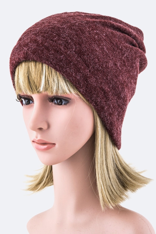 Twisted Tube Top Beanie - orangeshine.com
