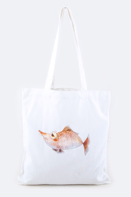 Comic Fish Fashion Tote - orangeshine.com