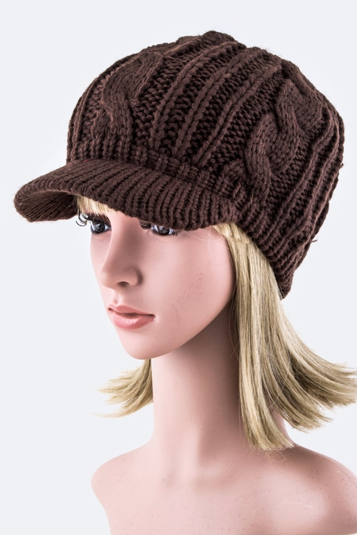 Cable Knit Fashion Beanie - orangeshine.com
