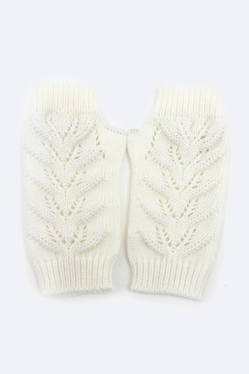 Knit Fingerless Gloves - orangeshine.com