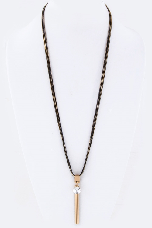 Triple Bar Pendant Necklace - orangeshine.com