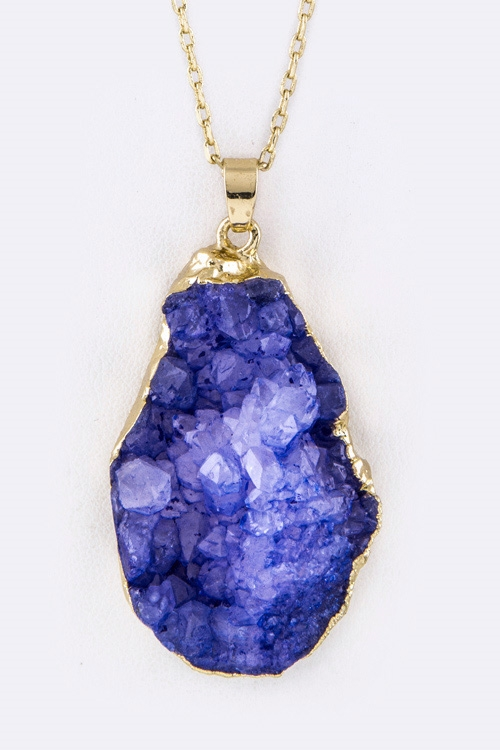 Druzy Pendant Necklace - orangeshine.com