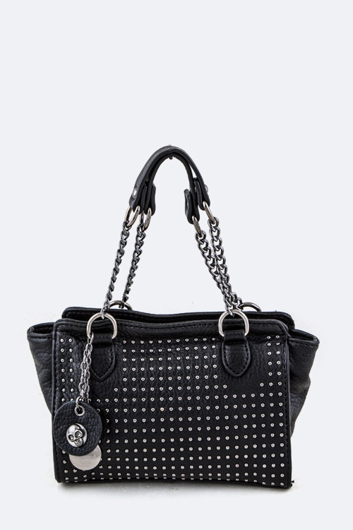 Studded Convertible Mini Bag - orangeshine.com