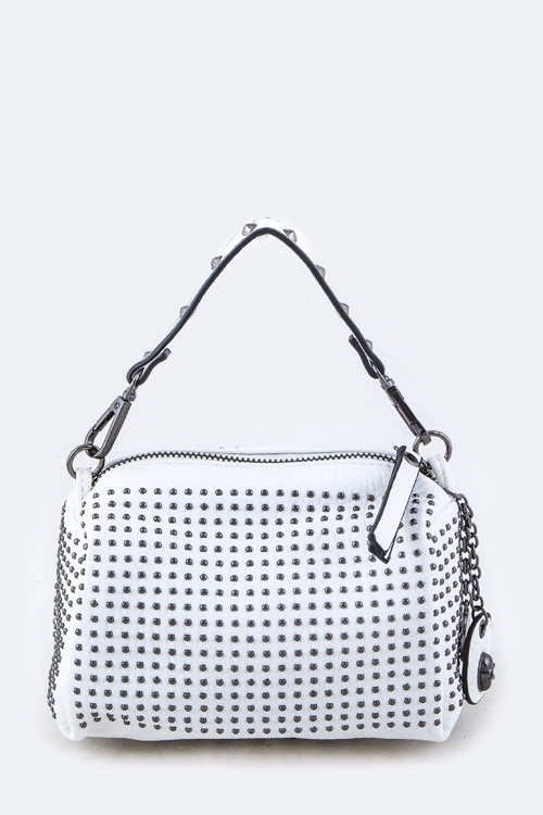 Micro Studded Mini Handbag - orangeshine.com