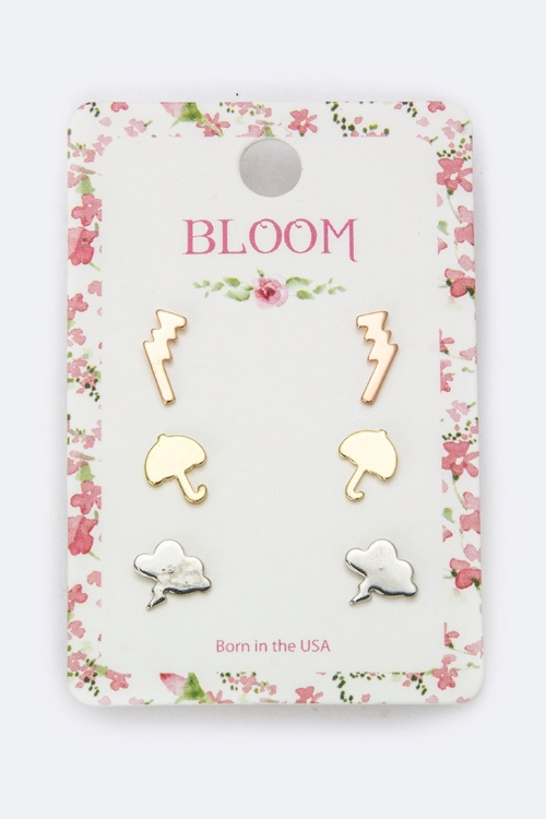Weather Icon Studs Set - orangeshine.com