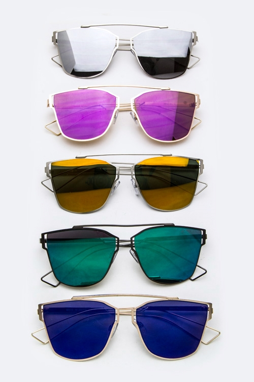 Top-Bar Flat Lens Sunglasses - orangeshine.com