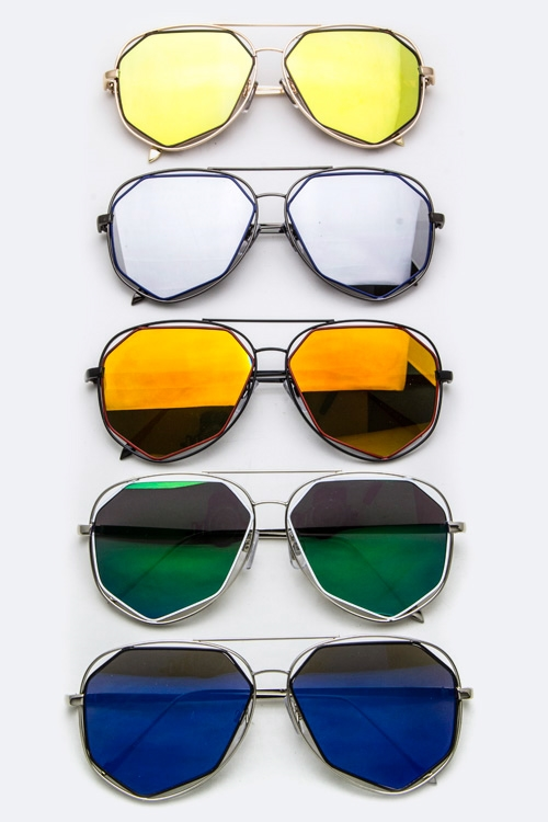 Angular Lens Iconic Aviators - orangeshine.com
