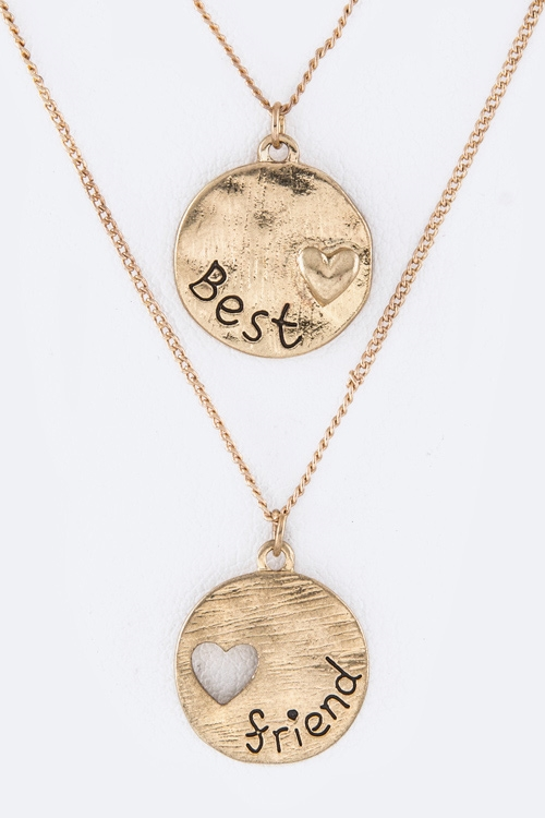 Best Friend Pendant Necklaces  - orangeshine.com