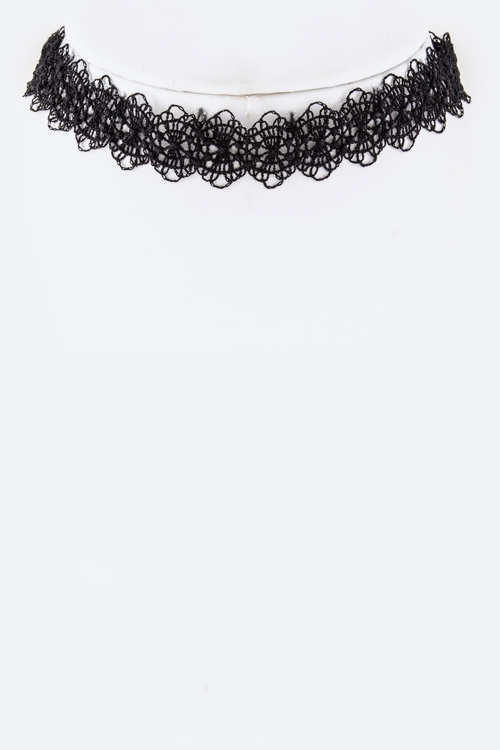 Lace Choker Necklace - orangeshine.com