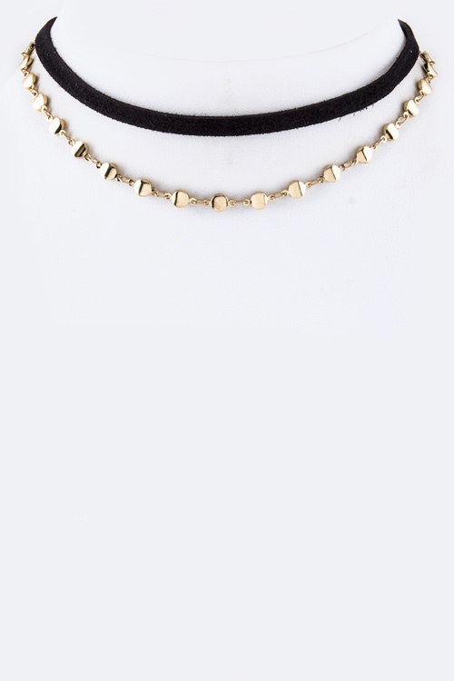 Chain Layer Choker Necklace - orangeshine.com
