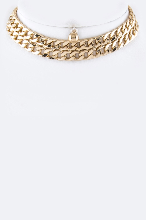 Layer Chain Choker Necklace  - orangeshine.com