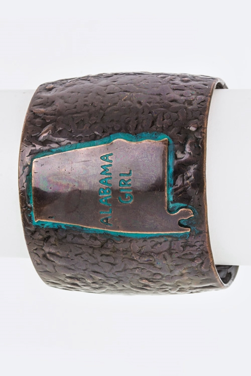 Alabama Girl Metal Cuff - orangeshine.com