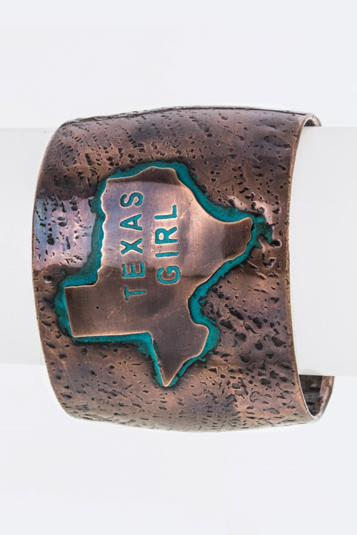 Texas Girl Metal Cuff - orangeshine.com