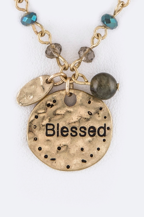 Blessed Disk Bead Station Neck - orangeshine.com