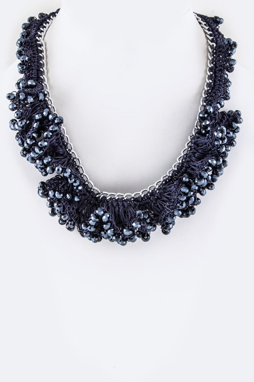 Frilled Beads Necklace - orangeshine.com