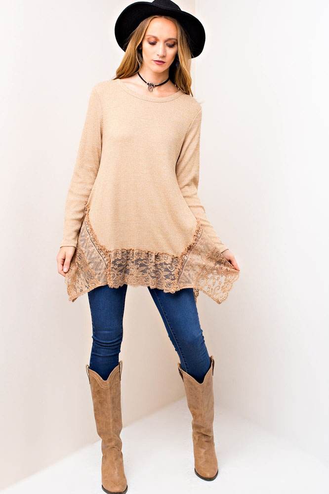 TWO TONE KNIT TOP - orangeshine.com