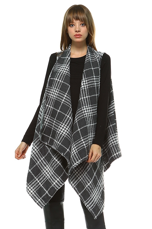 PLAID CARDIGAN - orangeshine.com