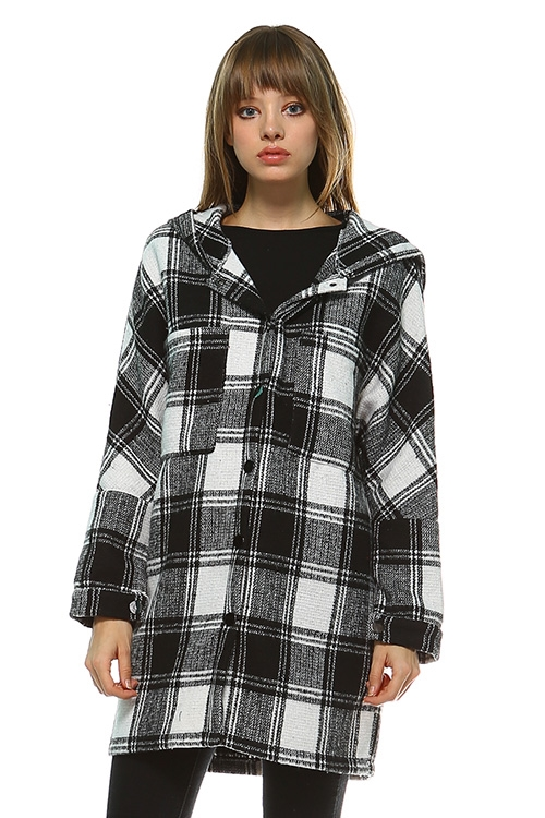 PLAID HOODIE JACKET - orangeshine.com